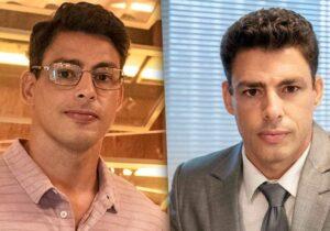 Christian antes e depois de assumir o lugar de Renato na novela 'Um Lugar ao Sol' — Foto: Globo/Fábio Rocha